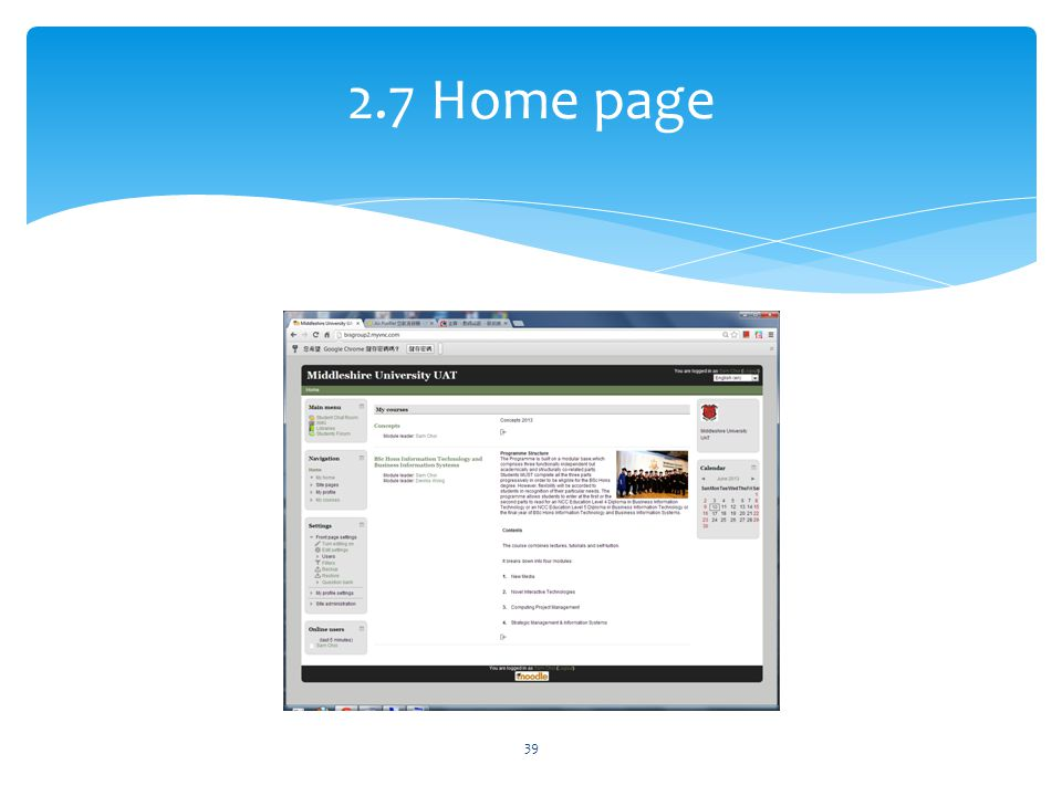2.7 Home page