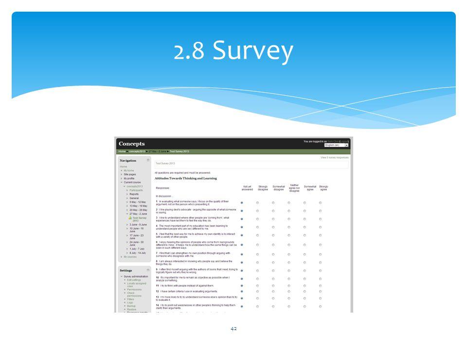 2.8 Survey
