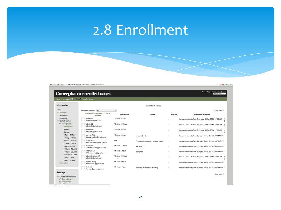 2.8 Enrollment