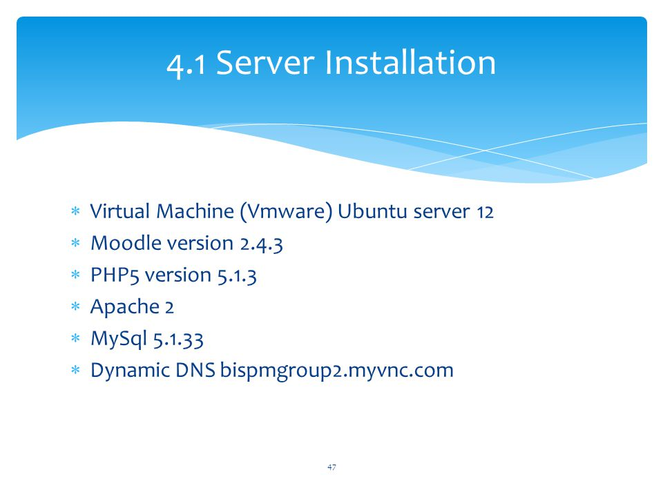 4.1 Server Installation Virtual Machine (Vmware) Ubuntu server 12