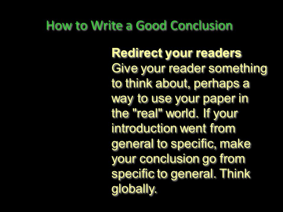 good way write conclusion research paper A successful research paper accurately writing a successful research paper is not easy work smart is a good way to remember the fundamentals of research paper writing, and to help prepare an author in writing a successful research paper.