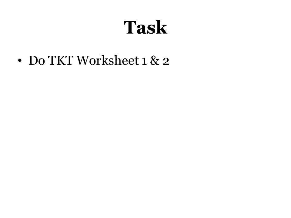 Task Do TKT Worksheet 1 & 2 Rada finish