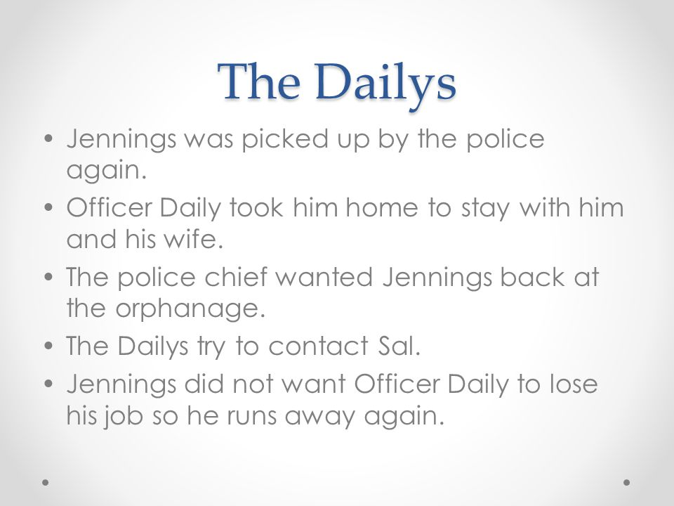 The Dailys Jennings was picked up by the police again.