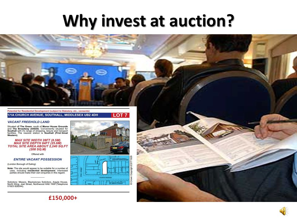 Why invest at auction £150,000+