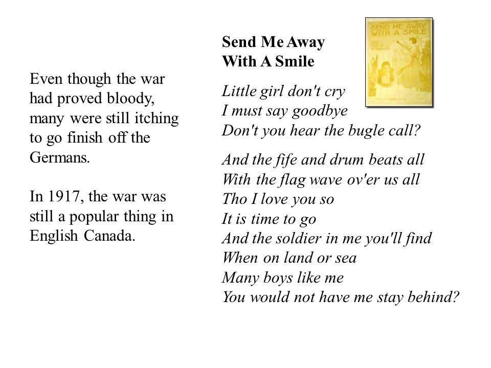 Send Me Away With A Smile