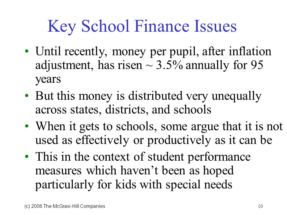 Key School Finance Issues