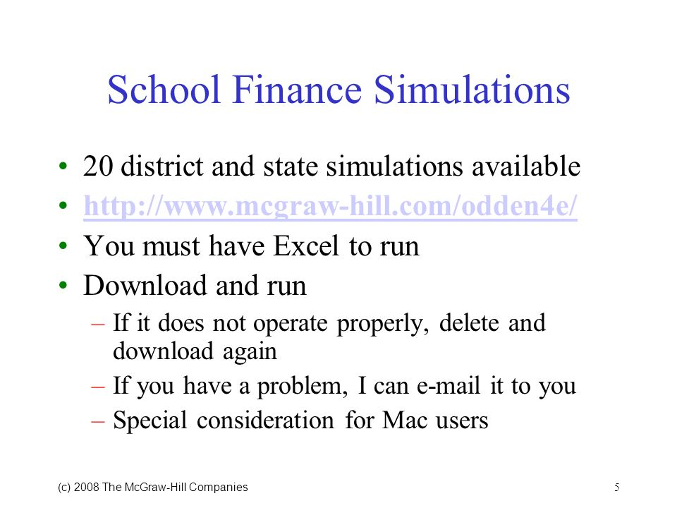School Finance Simulations