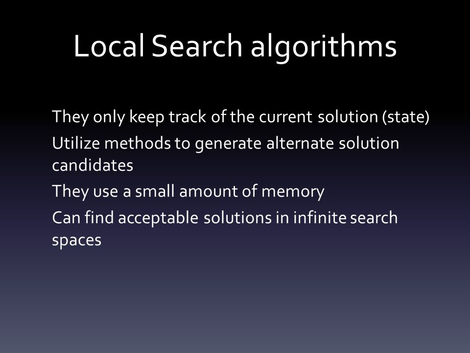 Local Search algorithms