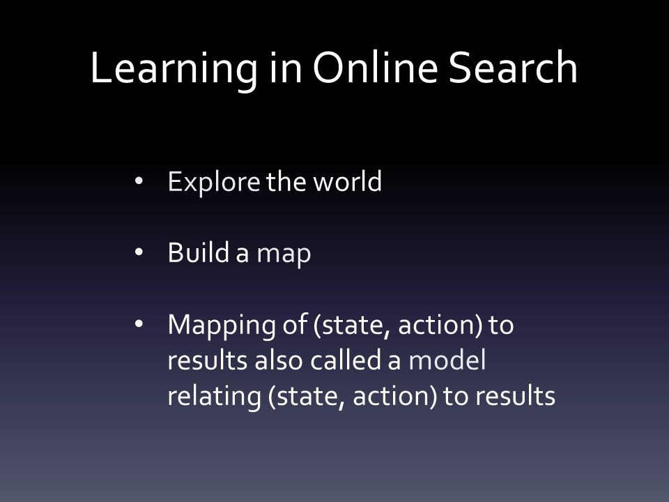 Learning in Online Search