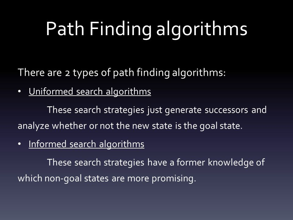 Path Finding algorithms