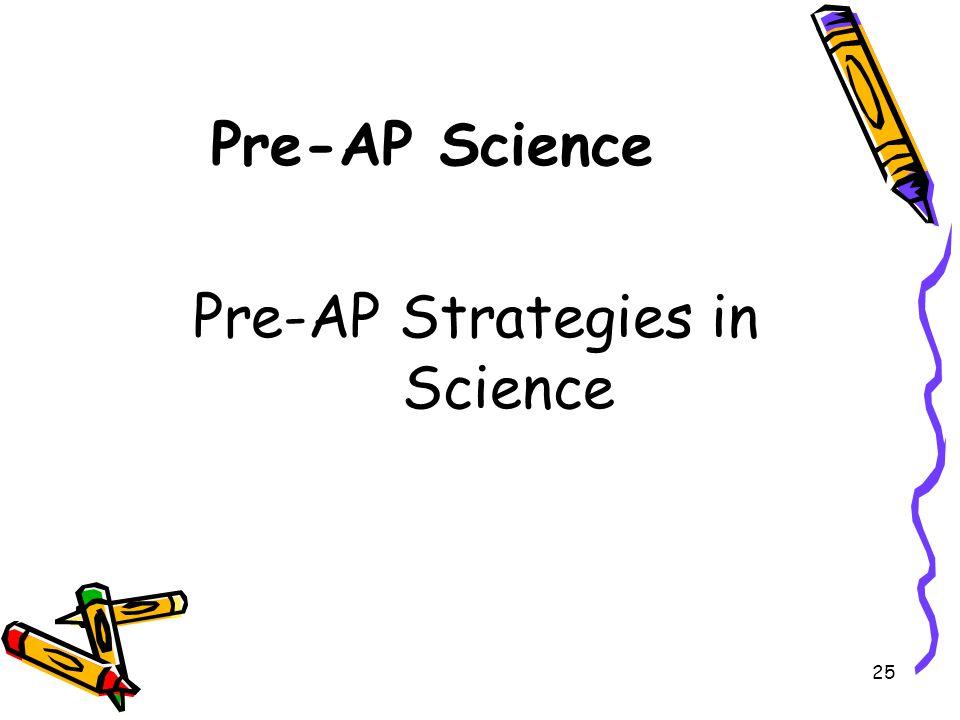 Pre-AP Strategies in Science