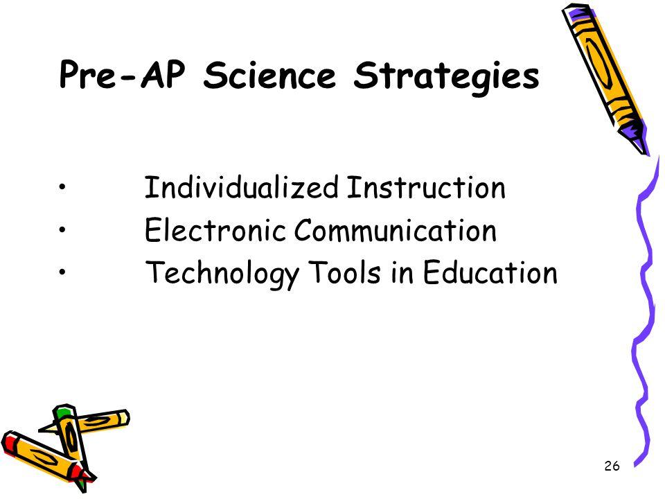 Pre-AP Science Strategies