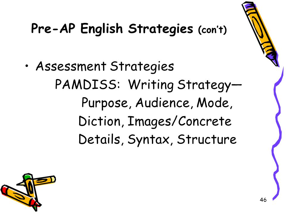 Pre-AP English Strategies (con't)