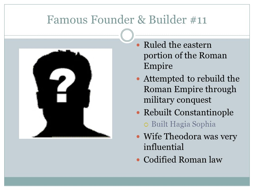 Famous Founder & Builder #11