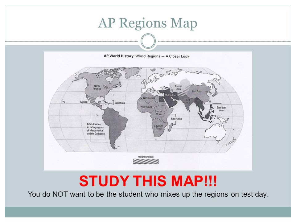 STUDY THIS MAP!!! AP Regions Map