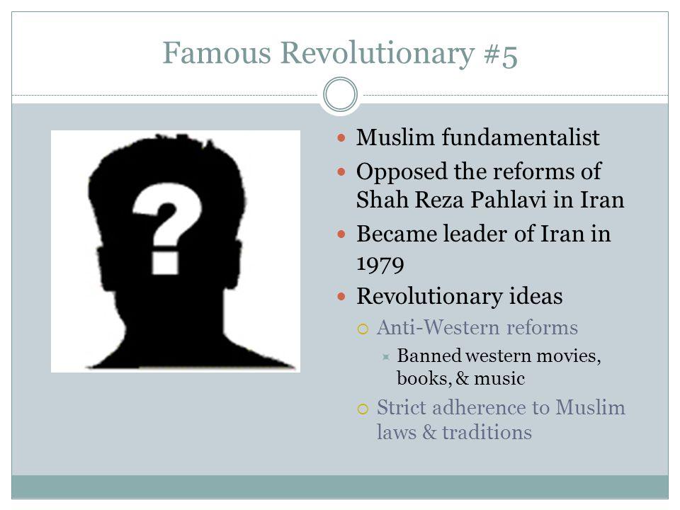 Famous Revolutionary #5