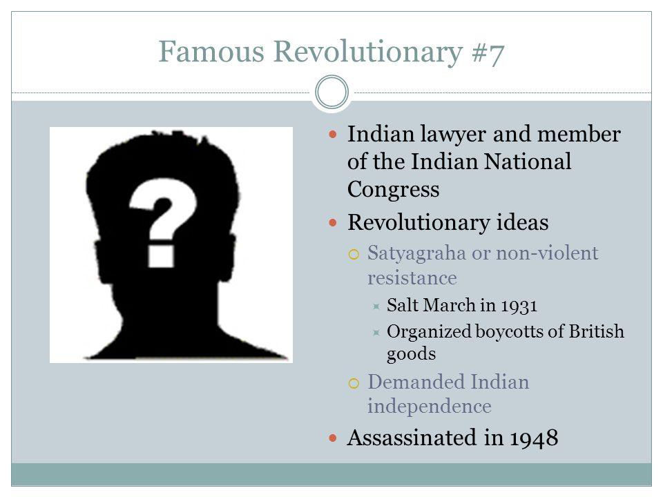 Famous Revolutionary #7