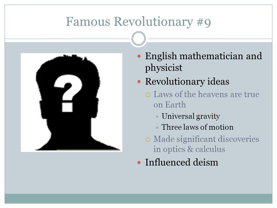 Famous Revolutionary #9