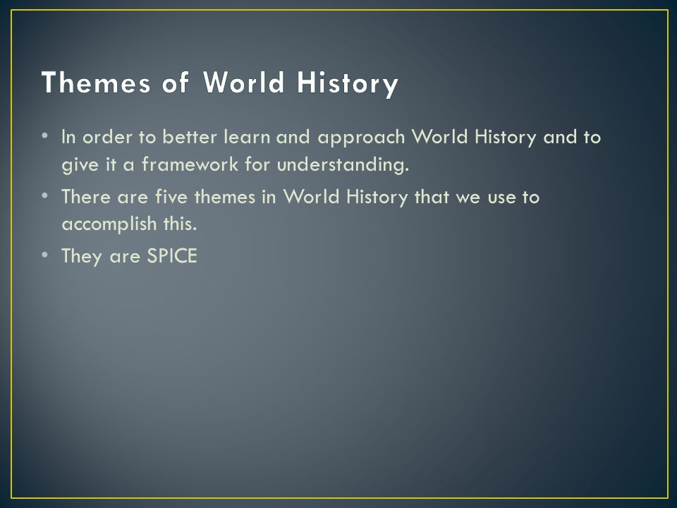 Themes of World History
