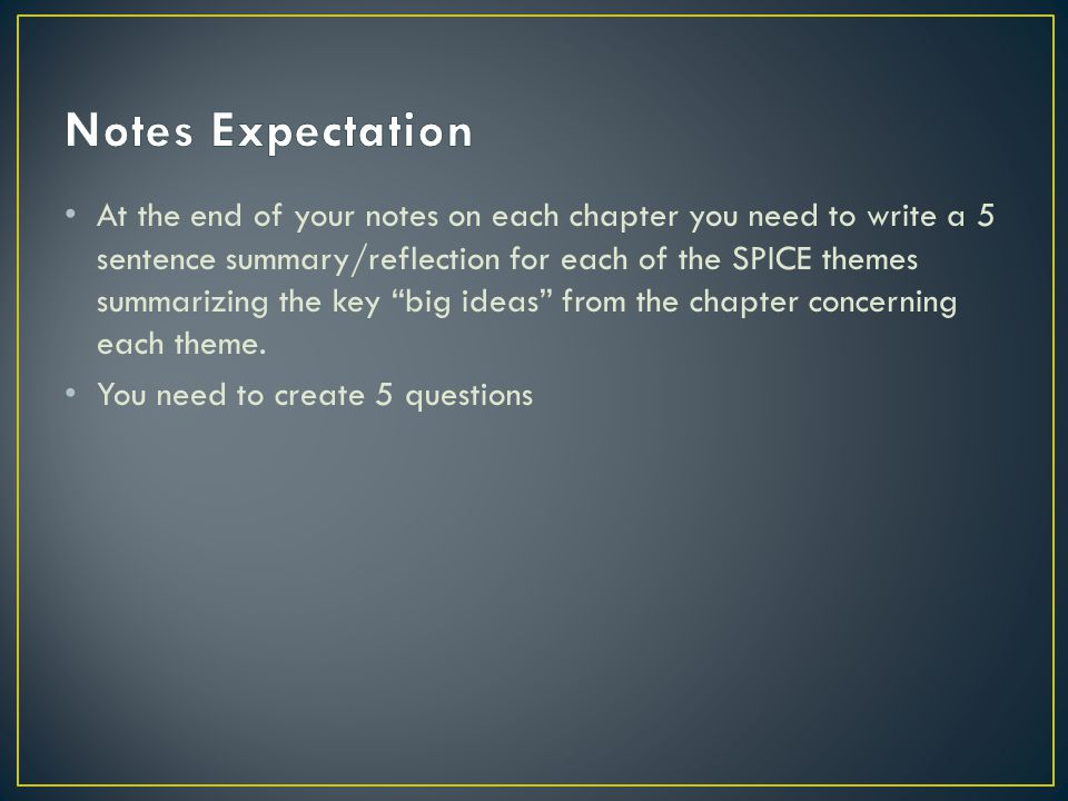 Notes Expectation