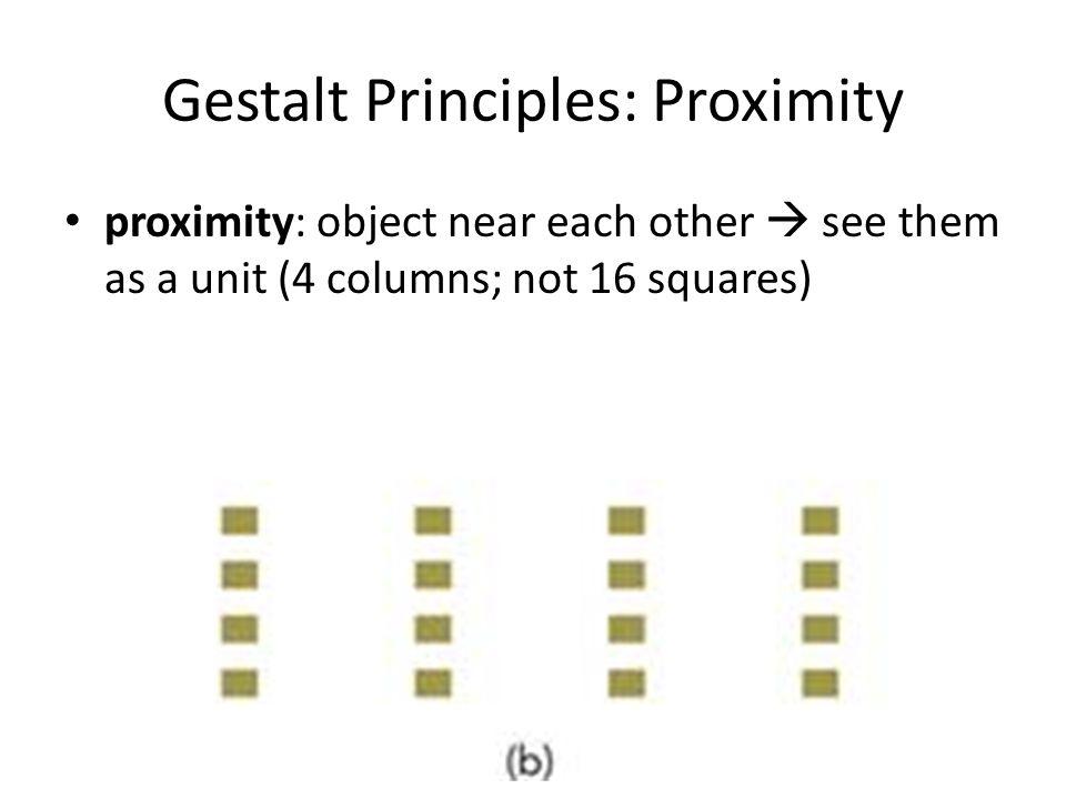 Gestalt Principles: Proximity