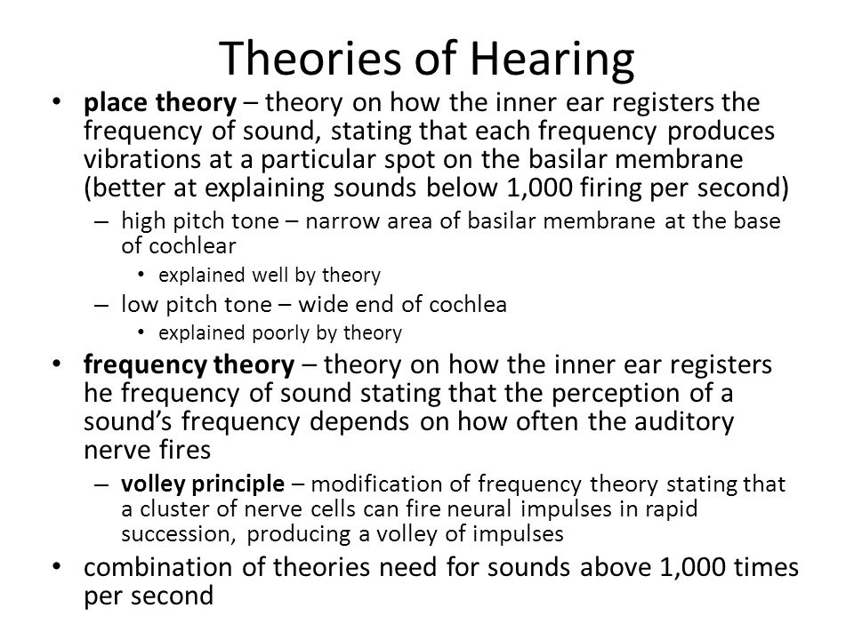 Theories of Hearing