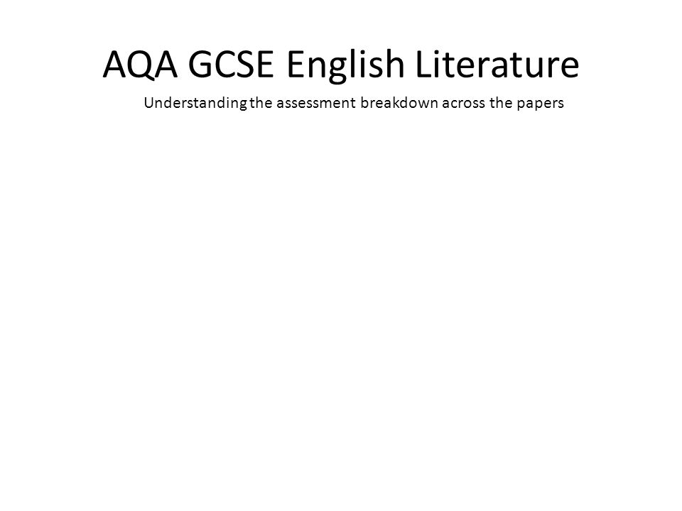 AQA GCSE English Literature