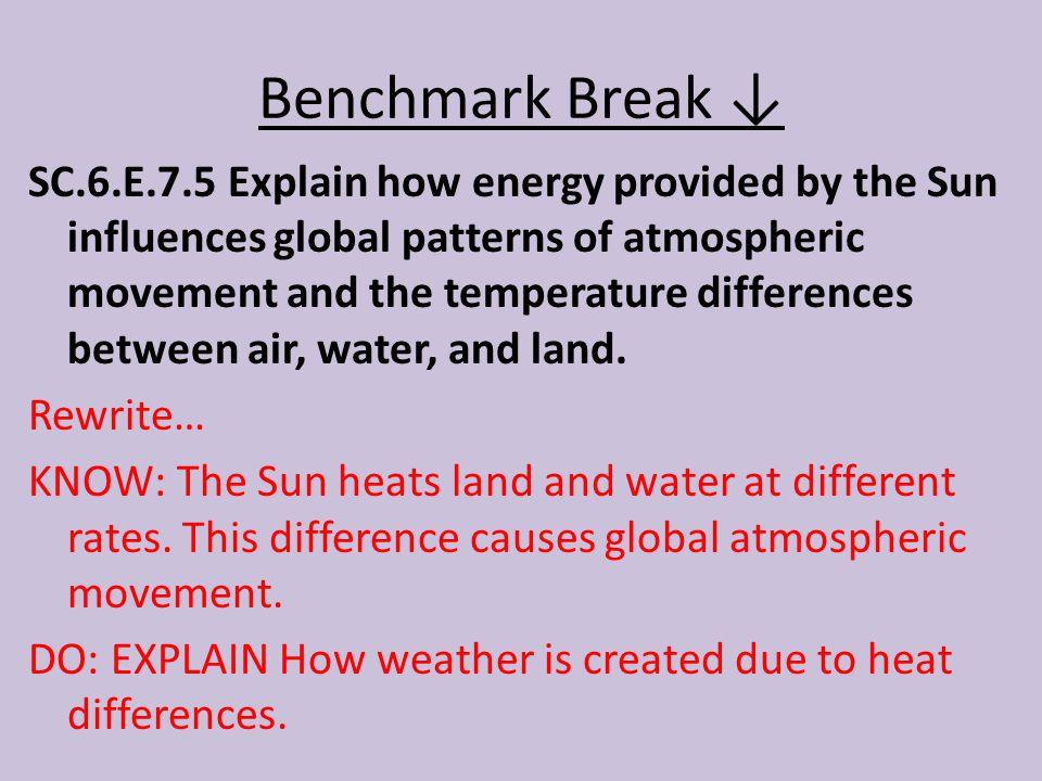 Benchmark Break ↓