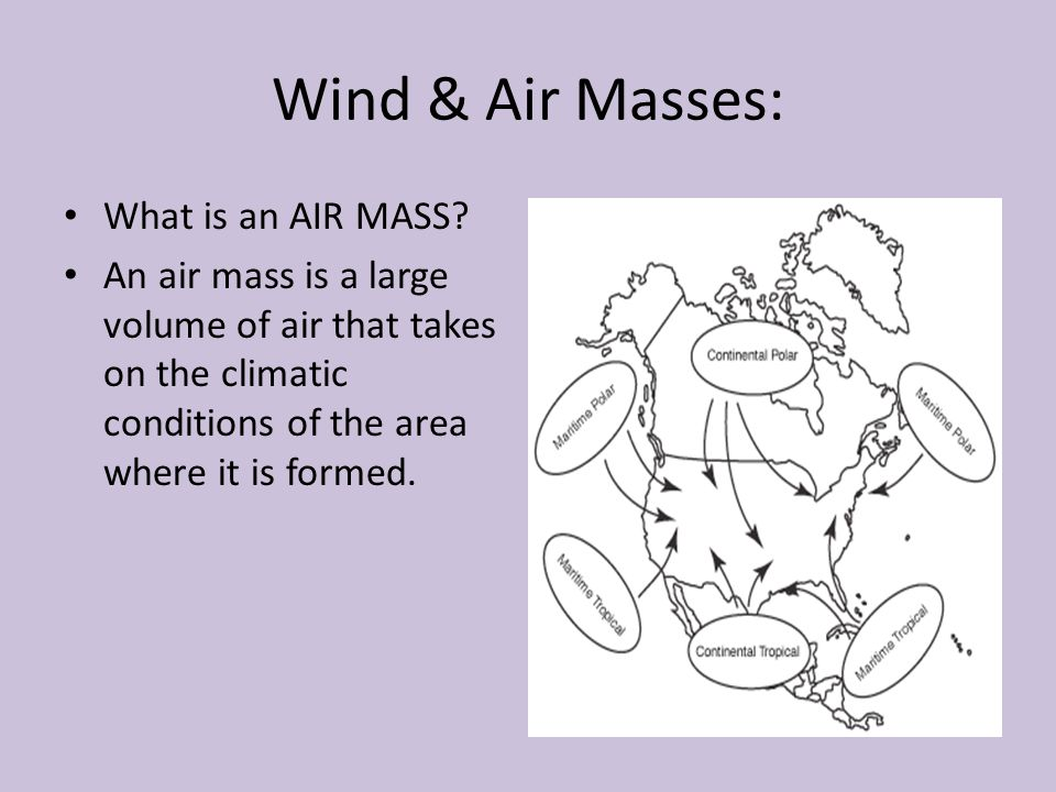 Wind & Air Masses: What is an AIR MASS