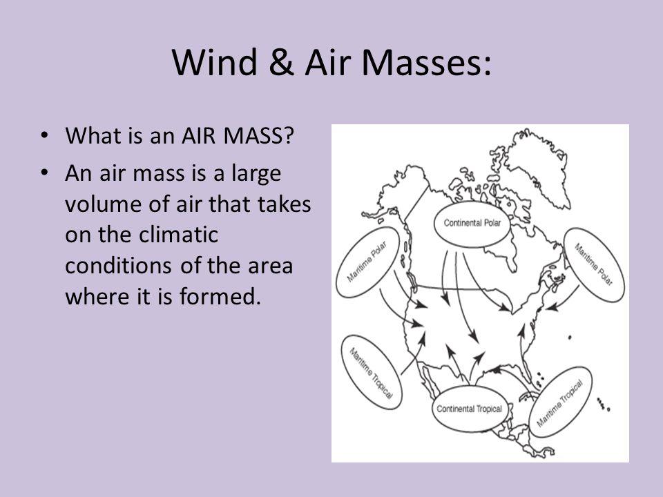 Wind & Air Masses: What is an AIR MASS
