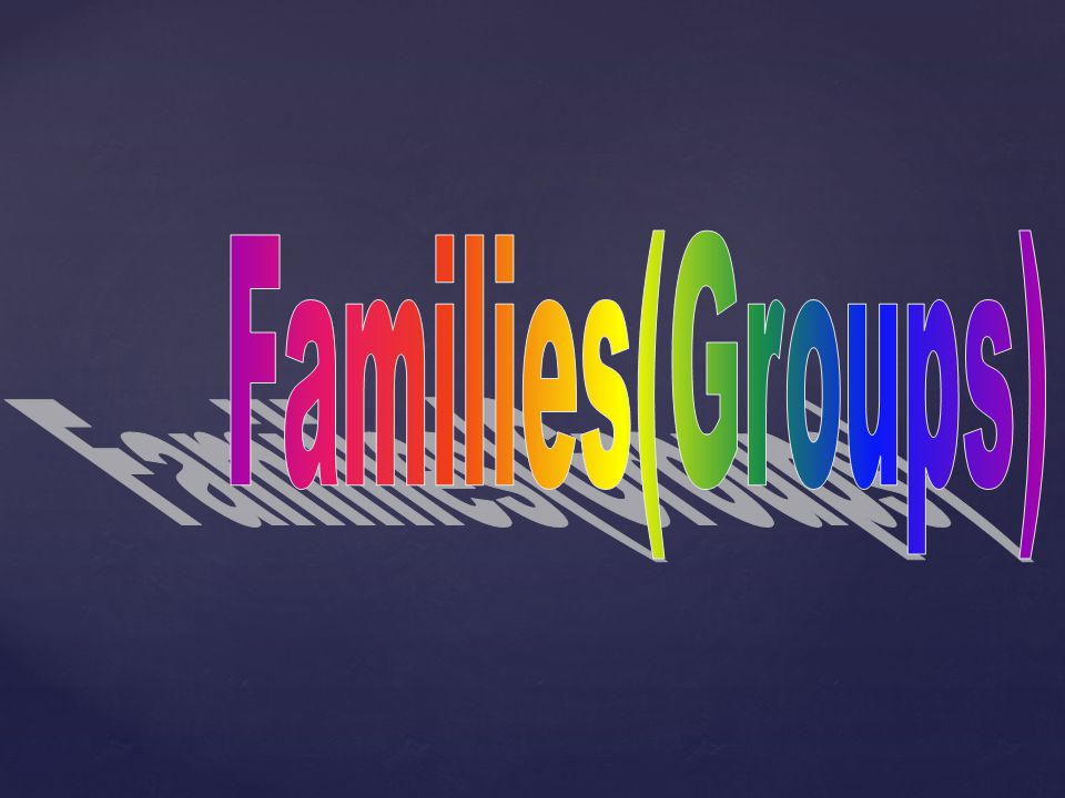 Families(Groups)