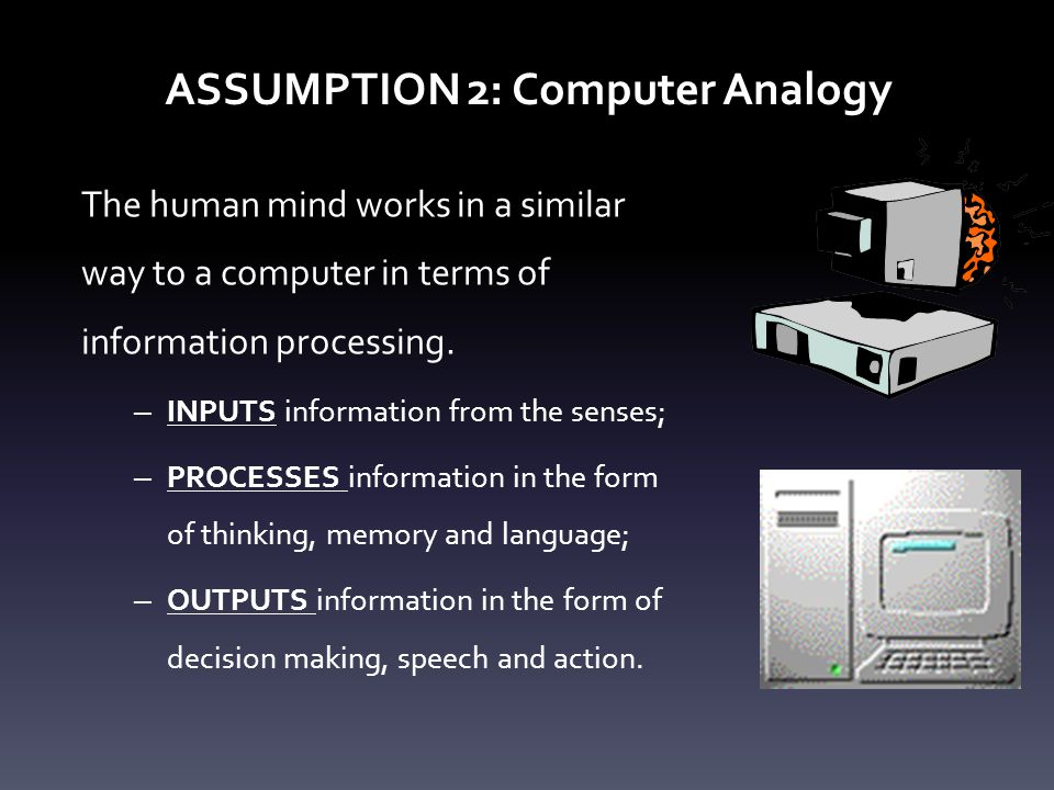ASSUMPTION 2: Computer Analogy