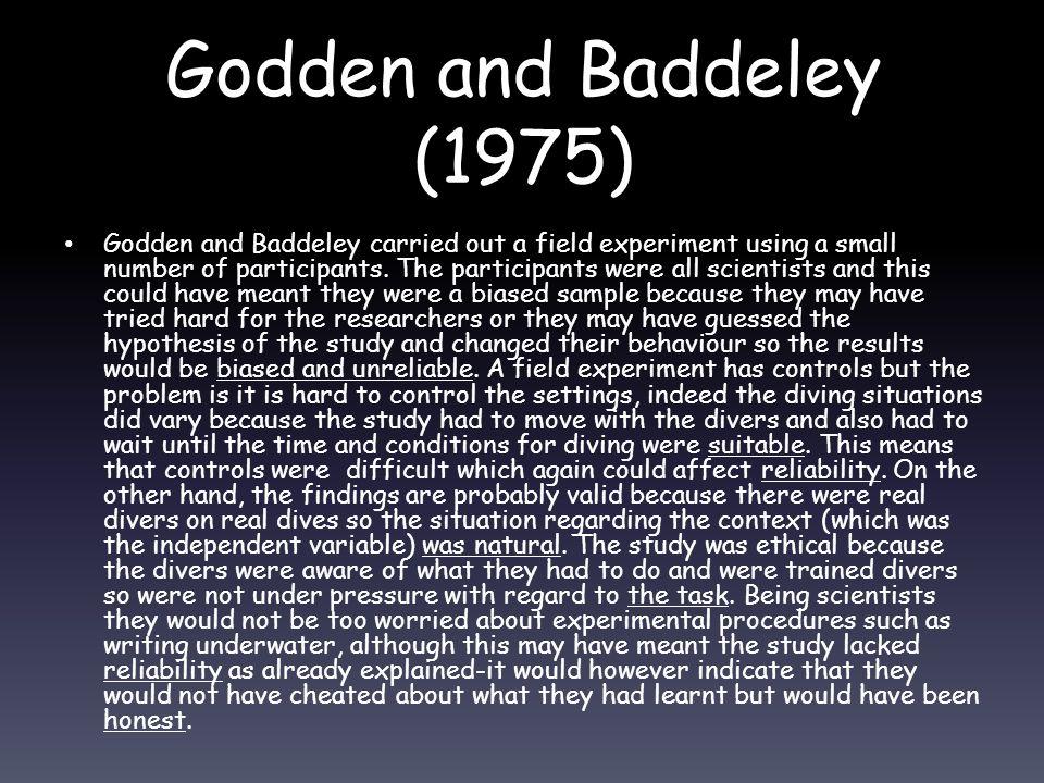 Godden and Baddeley (1975)