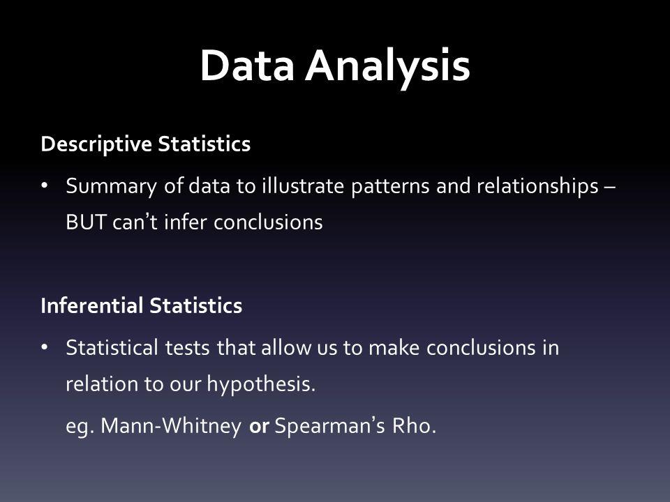 Data Analysis Descriptive Statistics