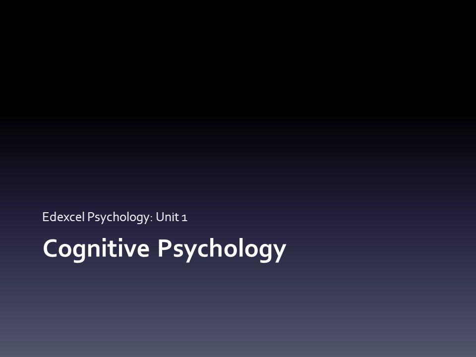 Edexcel Psychology: Unit 1