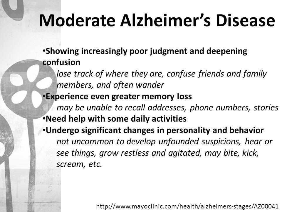 Moderate Alzheimer's Disease