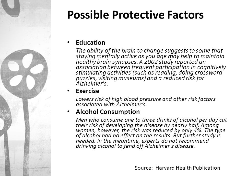 Possible Protective Factors