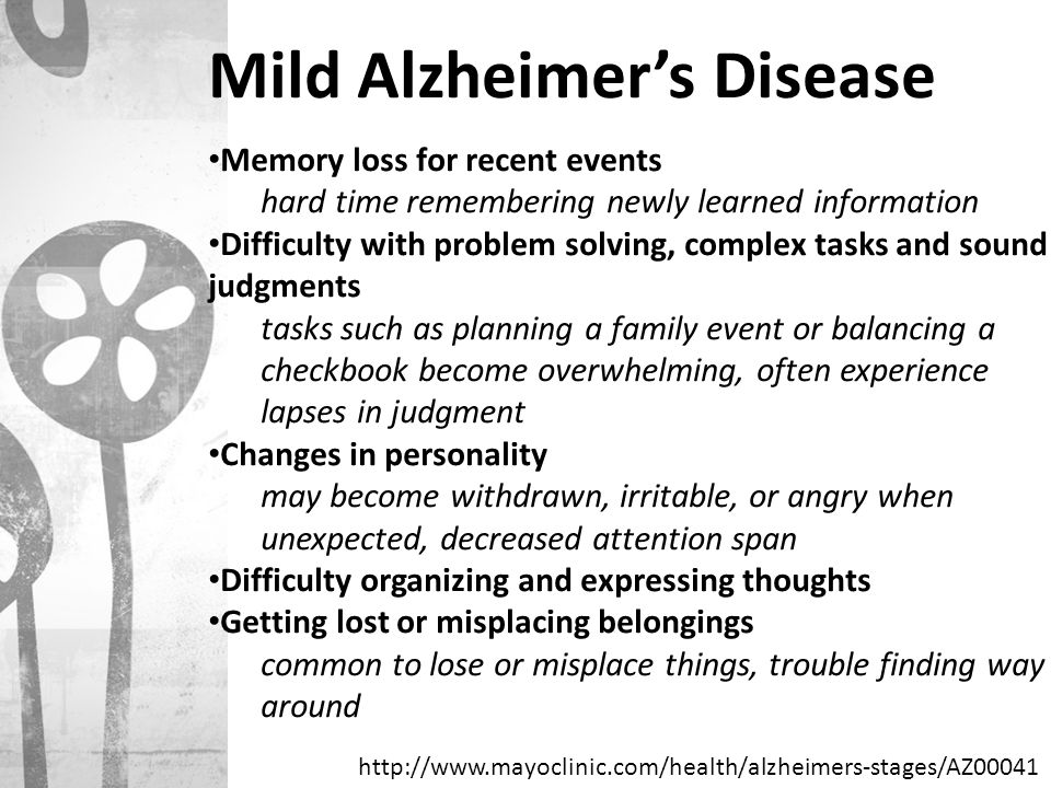 Mild Alzheimer's Disease