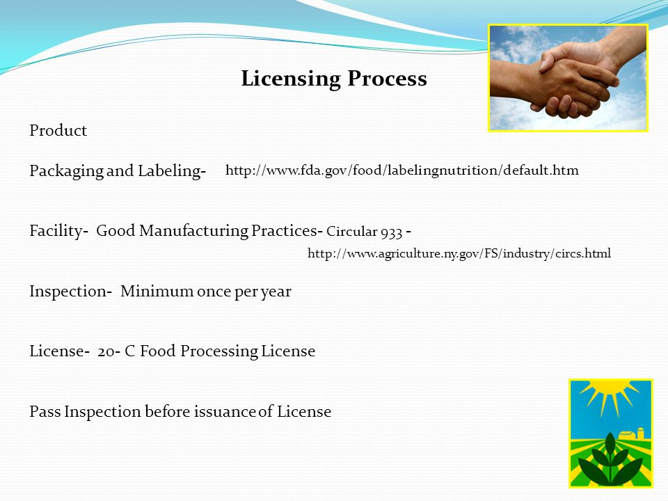Licensing Process Product Packaging and Labeling-