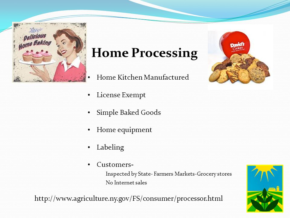 Home Processing Home Kitchen Manufactured License Exempt