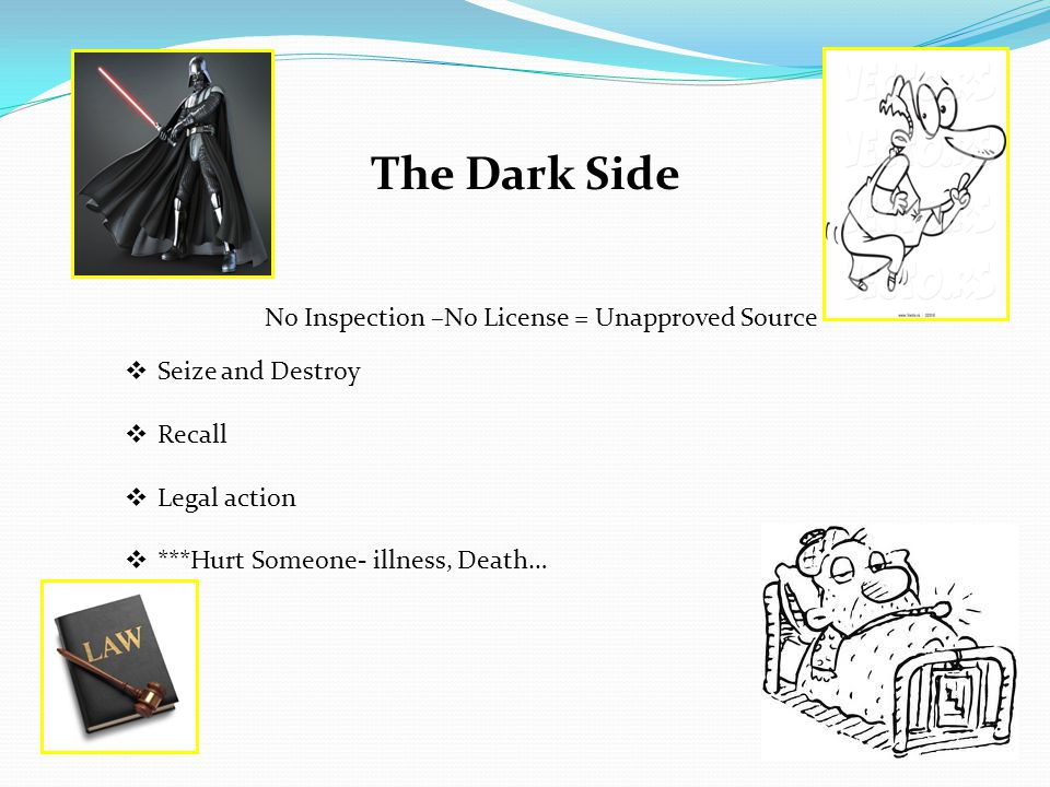 The Dark Side No Inspection –No License = Unapproved Source