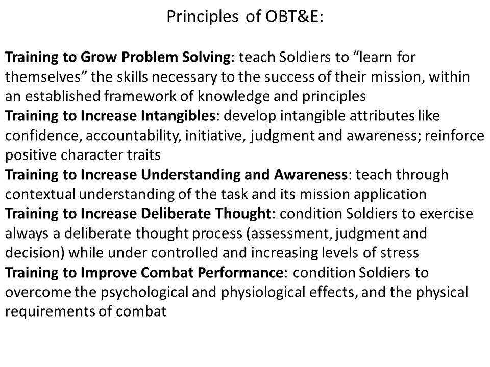 Principles of OBT&E: