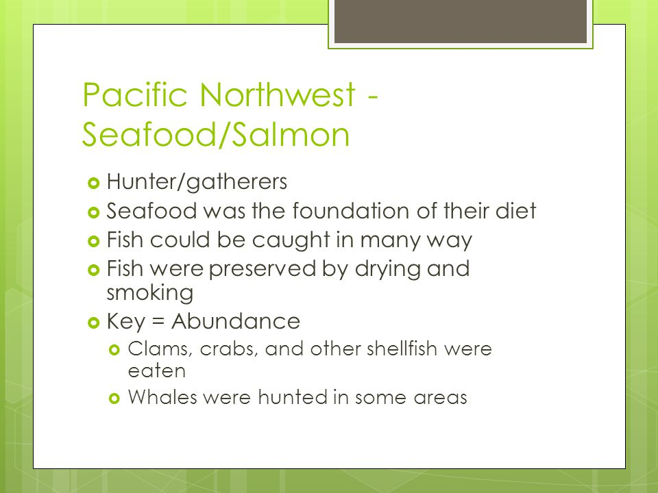 Pacific Northwest - Seafood/Salmon