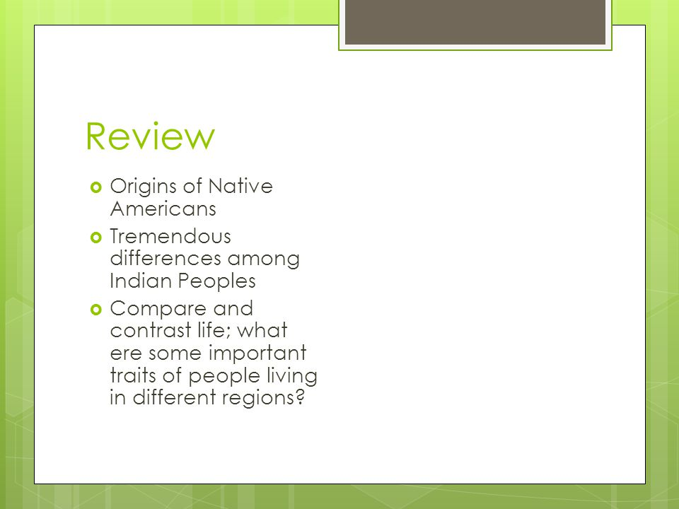 Review Origins of Native Americans