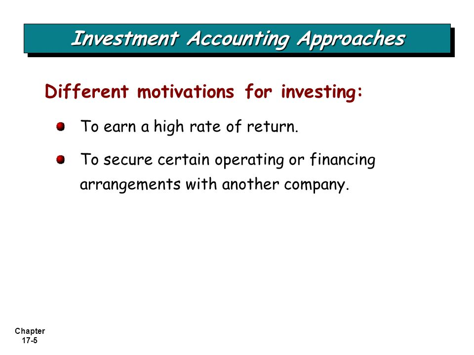 Investment Accounting Approaches