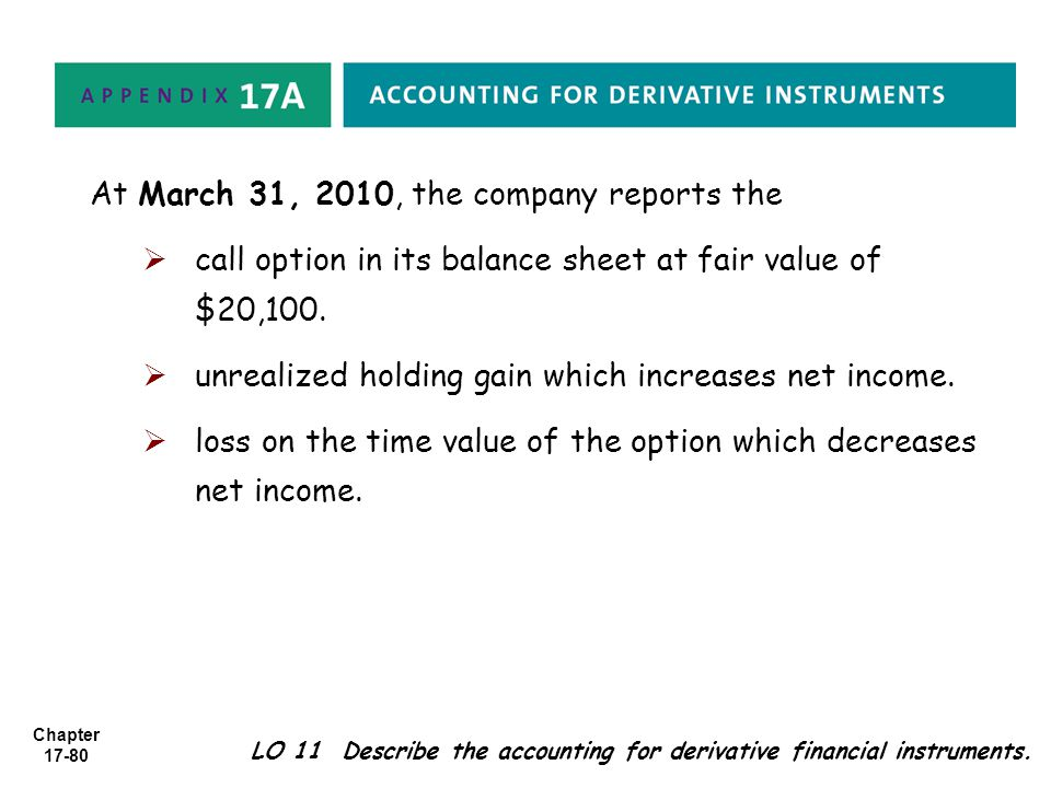 At March 31, 2010, the company reports the