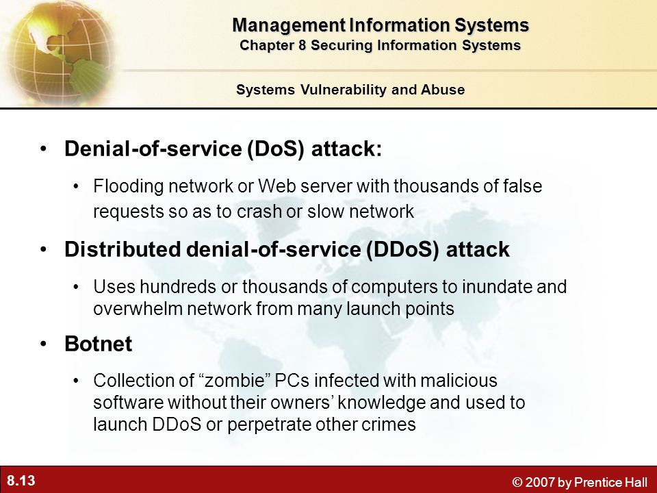 Denial-of-service (DoS) attack: