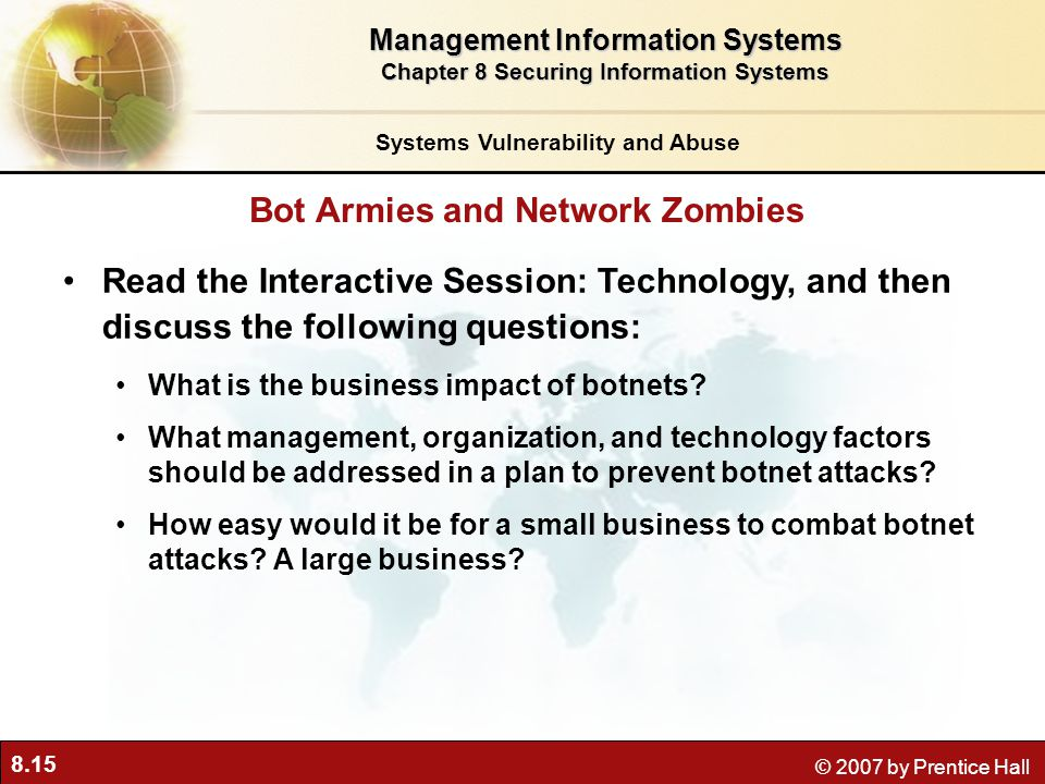 Bot Armies and Network Zombies