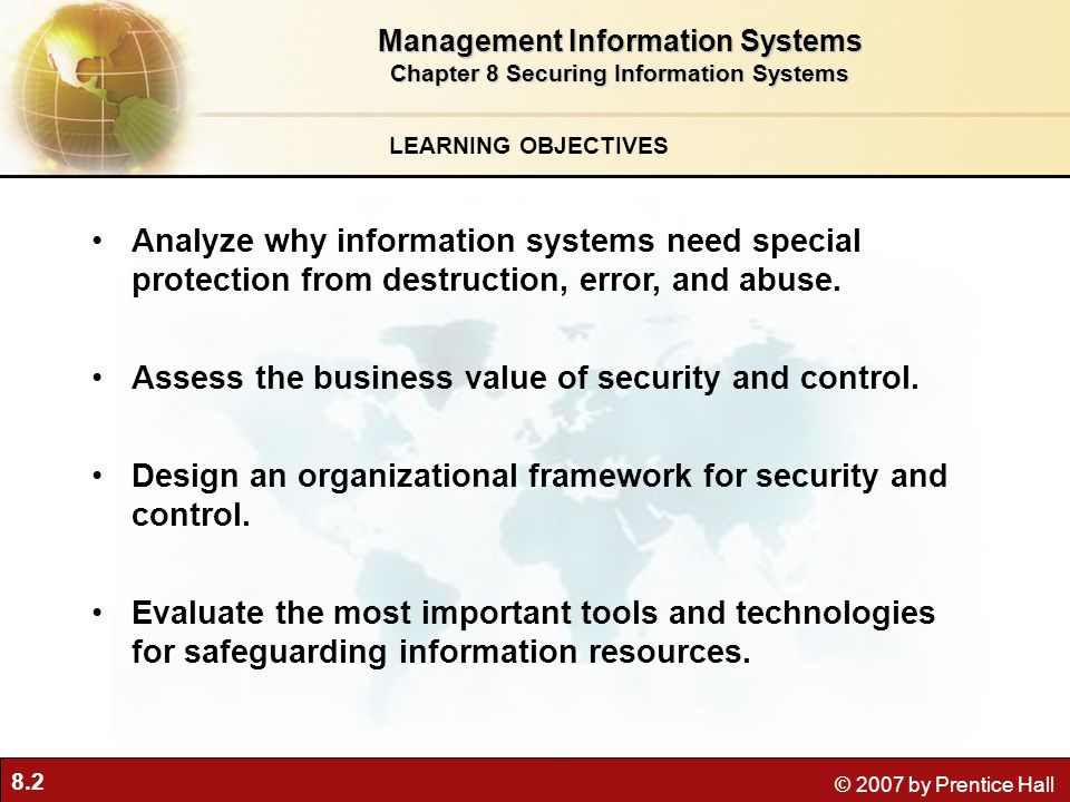 Management Information Systems Chapter 8 Securing Information Systems