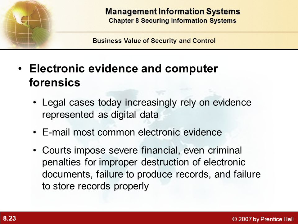 Electronic evidence and computer forensics